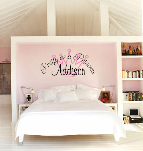 Pretty as a Princess Monogram Wall Decal