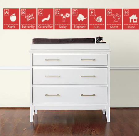 Picture Alphabet Wall Decals