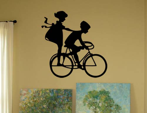 Bike Kids  Wall Decals