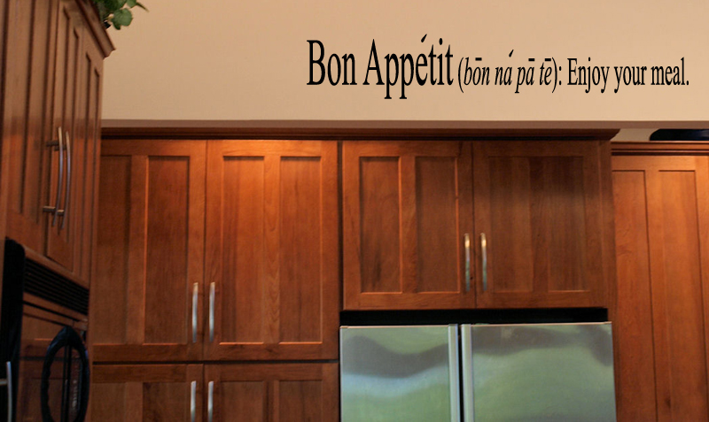 Bon Appetit Enjoy Your Meal Wall Decal