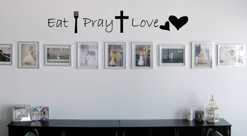 Eat Pray Love Images Wall Decal