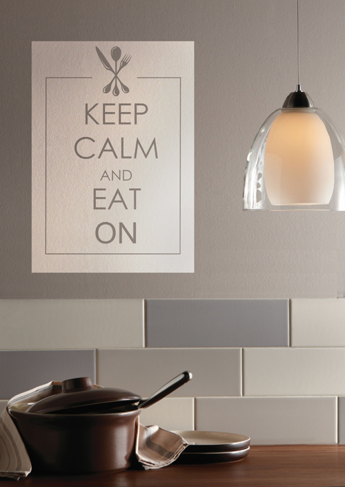 Keep Calm and Eat On Wall Decal