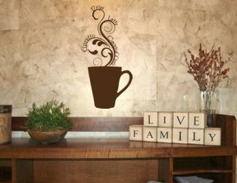 Steamy Coffee Mug I Wall Decal