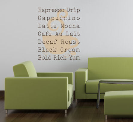 Modern Coffee Sign Wall Decal