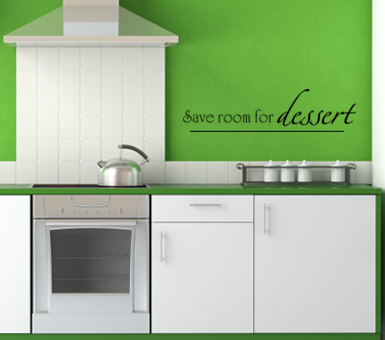 Save Room for Dessert Wall Decal