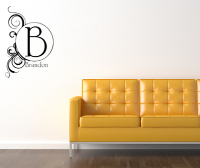 Artsy Monogram Wall Decals