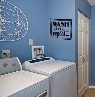 Wash Dry Fold Repeat Wall Decal