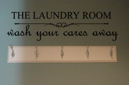 Laundry Wash Wall Decal