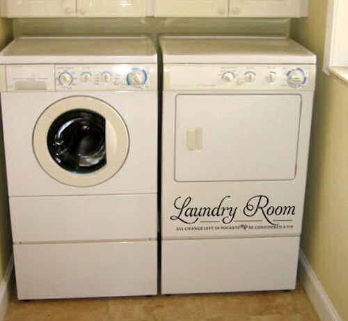 Laundry Room Tip Laundry Room Decal