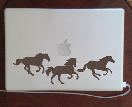 Running Horses Laptop Skins