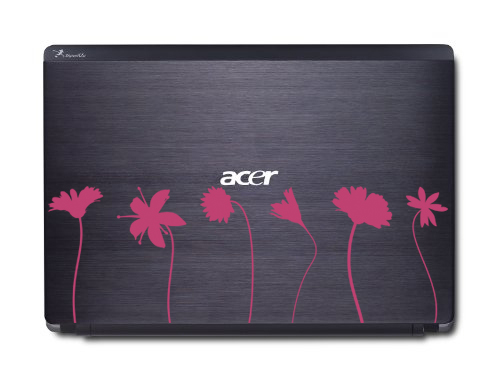 Flower Stems Laptop Skin