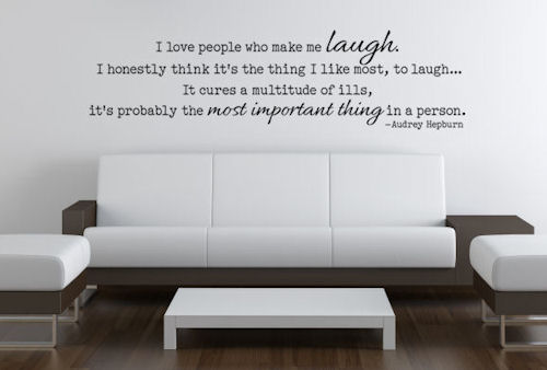 Love People Who Make Me Laugh Wall Decal