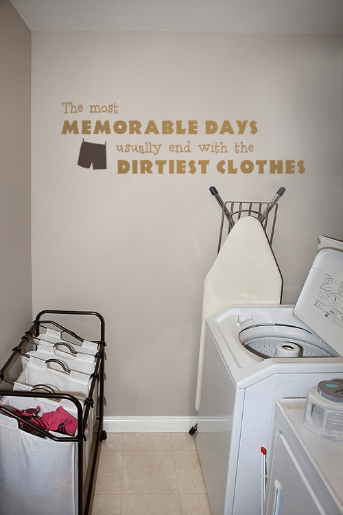 The Most Memorable Days II Laundry Decal