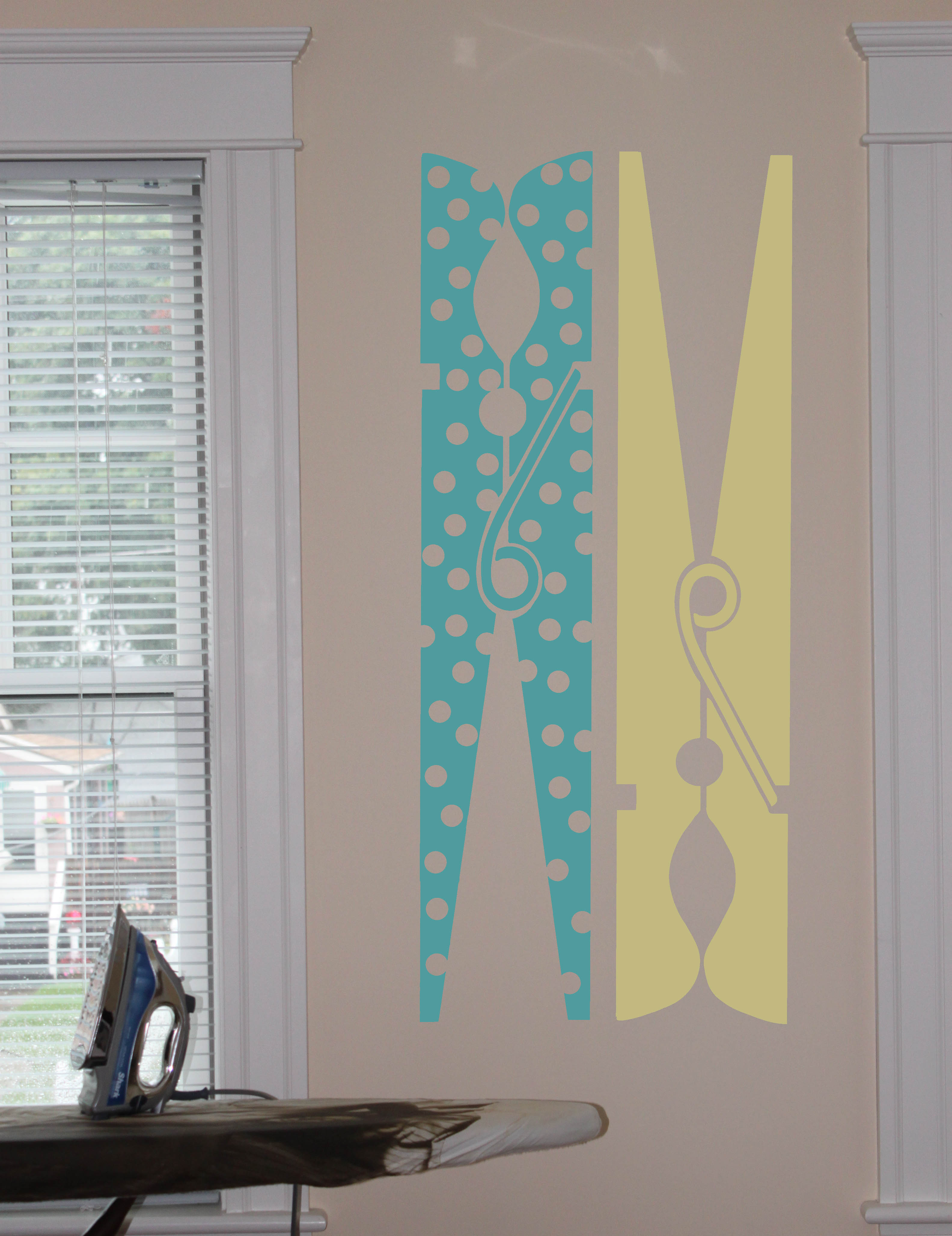 Clothespin Dots Wall Decal Item