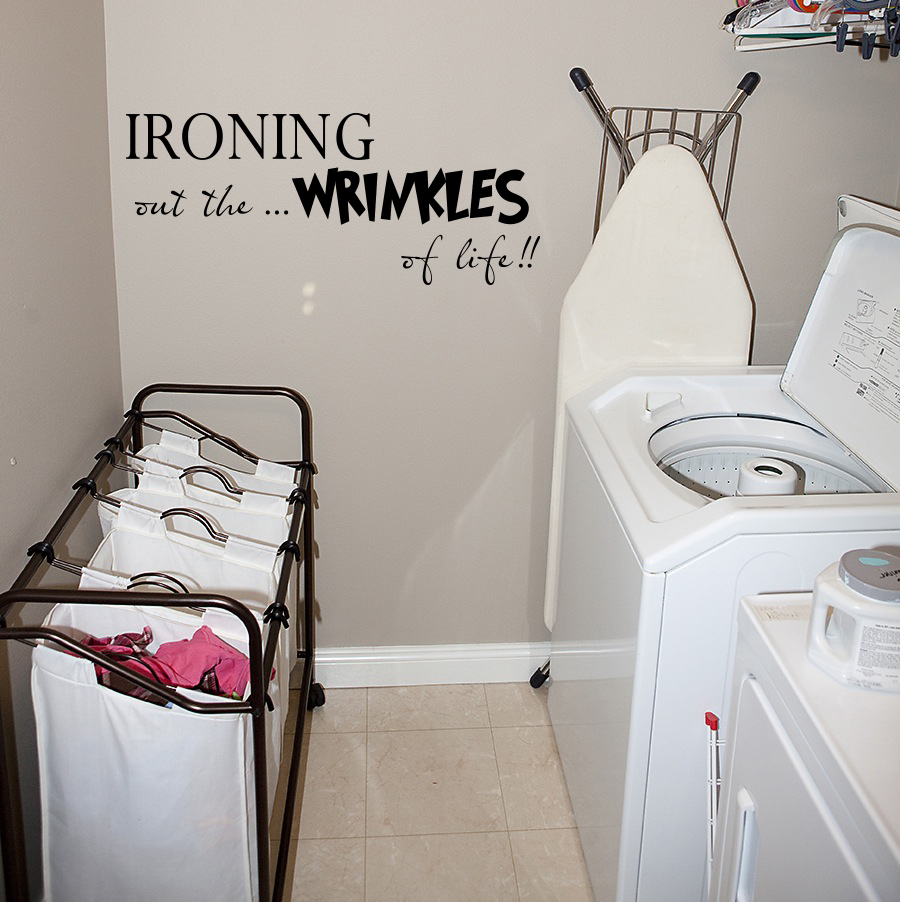Ironing Wrinkles Life Laundry Decal