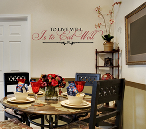 To Live Well Eat Well   Wall Decals