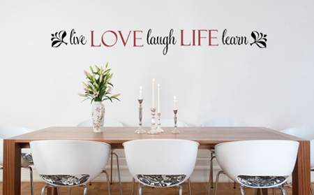 Love Life Live Laugh Learn | Wall Decals