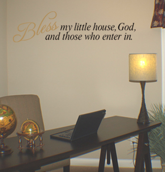 Bless My Little House Wall Decal
