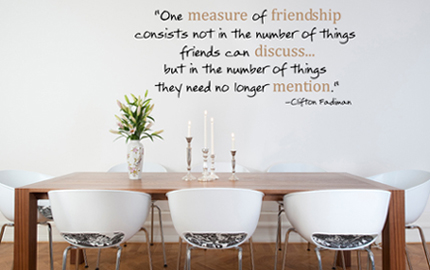 Measure Of Friendship Wall Decal