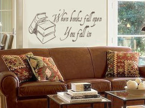Books Fall Open Wall Decal