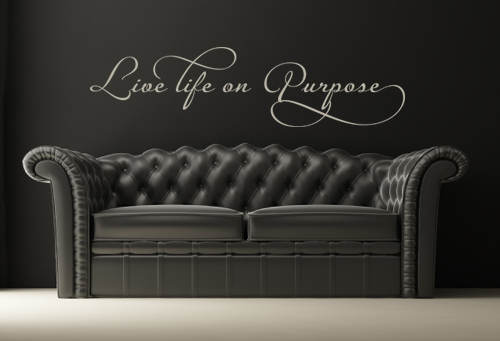 Live Life Purpose Script | Wall Decals