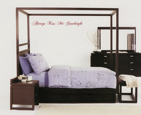 Always Goodnight -Script | Wall Decal