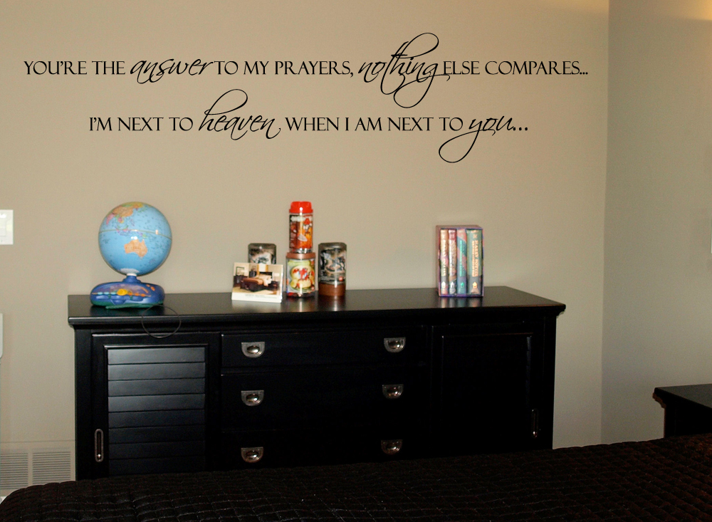 Next To You Next To Heaven Wall Decal