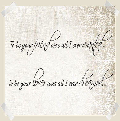 To Be Your Friend Lover Wall Decal