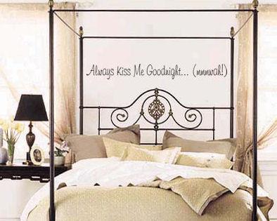 Kiss Me Goodnight Mwah Wall Decal