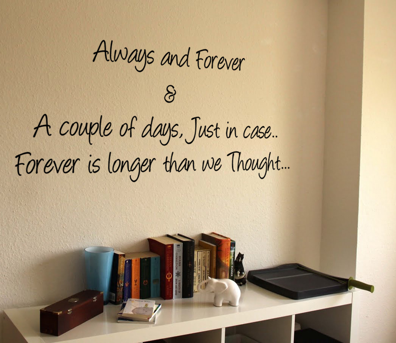 Always Forever & Couple Of Days Wall Decal