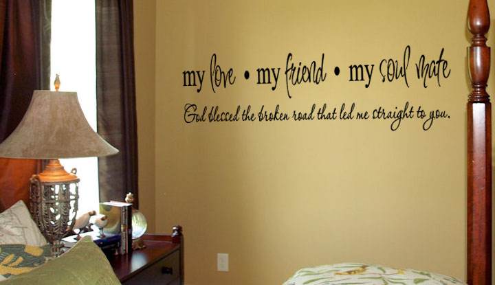 My Love Friend Soul Mate Wall Decal