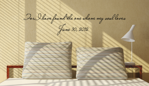 One My Soul Loves Date Wall Decal