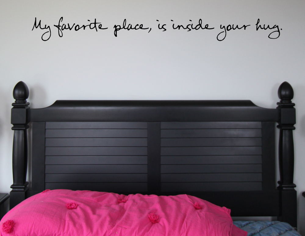 Favorite Place Inside Your Hug Wall Decal