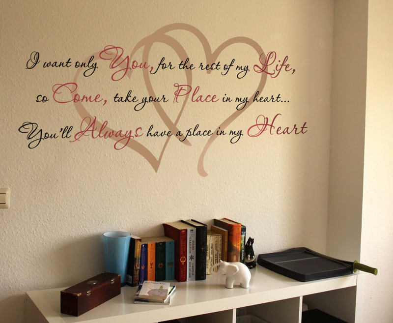 I Want Only You Wall Decal