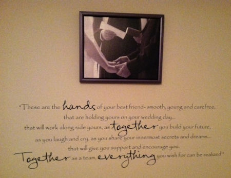 These Hands Best Friends Wall Decal