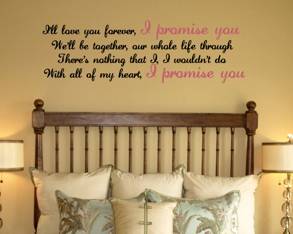 I Promise You Wall Decal