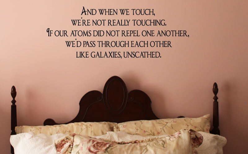 When We Touch Wall Decal