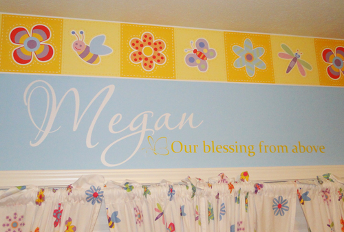 Blessing From Above Name Wall Decal