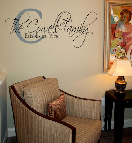 Wrought Iron Family Established Beautiful Wall Decals