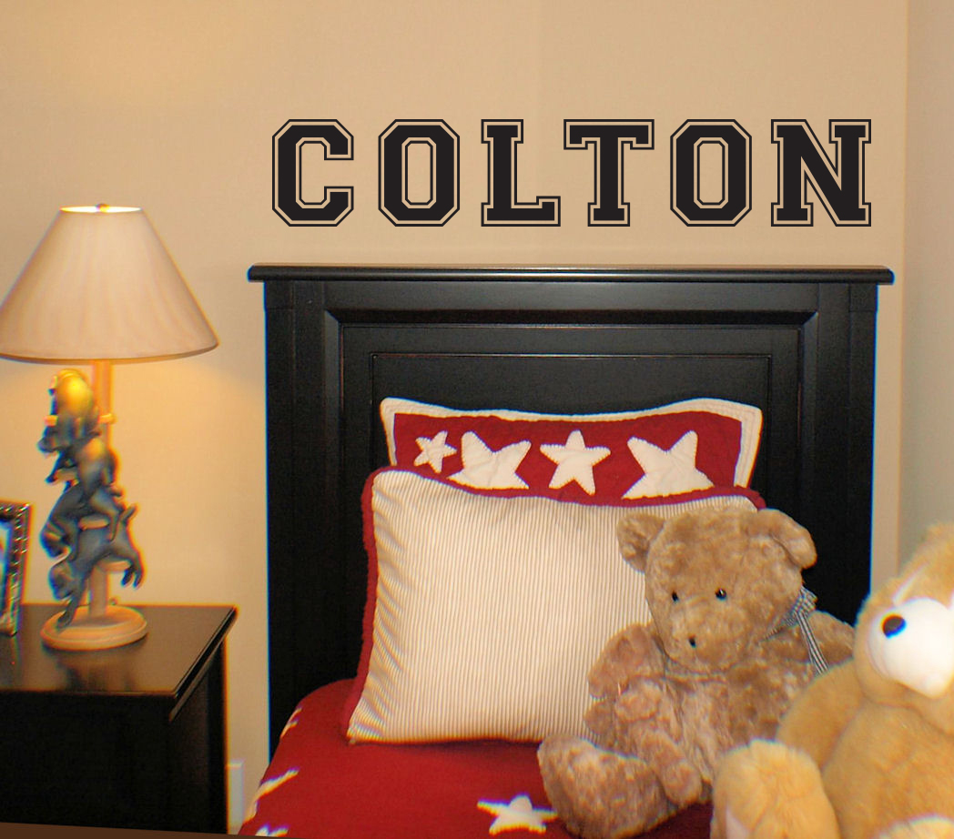 Jersey Name Plain Wall Decal