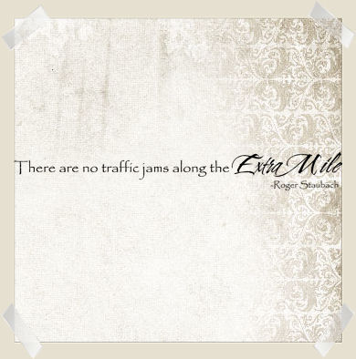 No Traffic Jams Extra Mile | Wall Decals