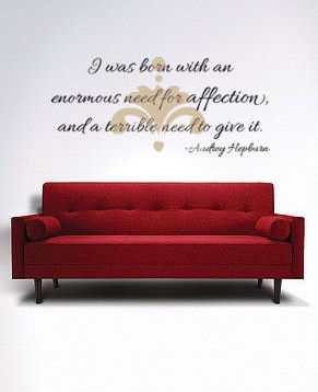 Hepburn Affection Wall Decals