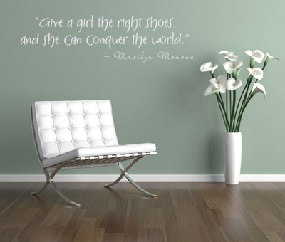Girl Right Shoes Wall Decal