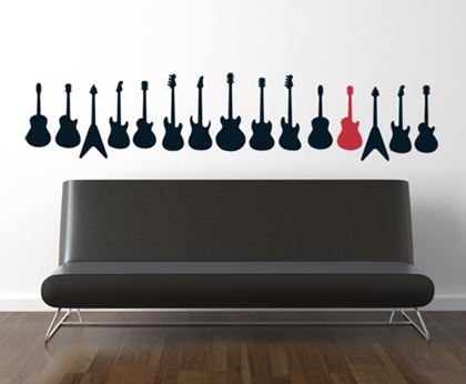 Guitar Collection Wall Decal