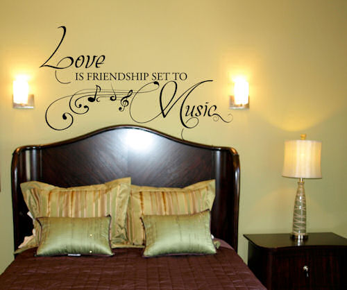 Love Friendship Music Wall Decal
