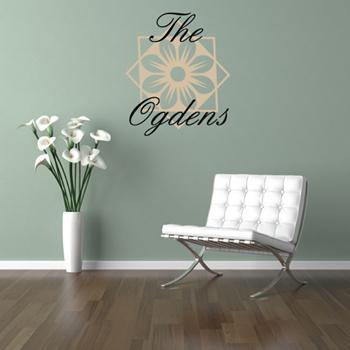 Flower Monogram Wall Decal