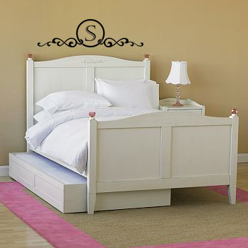 Monogram Headboard Frame Wall Decal