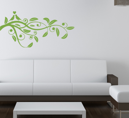 Love Bird Branch Wall Decal