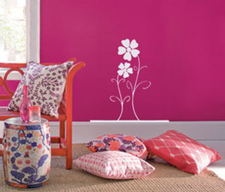 Big Petal Flowers Wall Decal