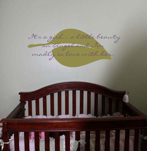 It's A Girl Little Beauty Wall Decals